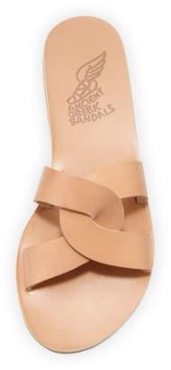 Ancient Greek Sandals Vachetta Interlocking Flat Slide Sandals
