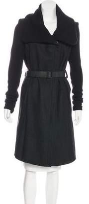 Helmut Lang Long Wool Coat