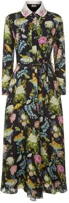 Vilshenko Holly Floral Midi Dress