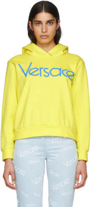 Versace Yellow Embroidered Logo Hoodie
