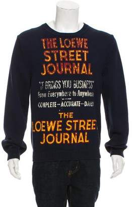 Loewe Crew Neck Graphic Sweater