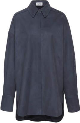 HUGO Partow Oversized Suede Shirt