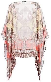 Etro Women's Sunset Fan Paisley Silk Poncho