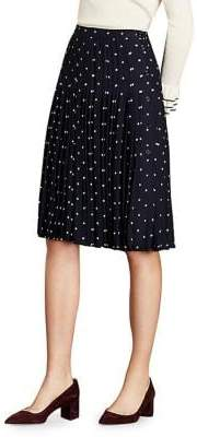 173815a31 Brooks Brothers Red Fleece Pleated Polka Dot Skirt