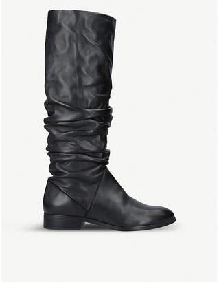 Aldo Ligodda ruched leather knee-high boots