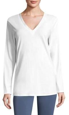 Natori V-Neck Cotton Top
