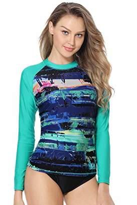 ce3155ef45ca2 Marina Threads Womens Rash Guard Swim Shirt Long Sleeve uv Protection  Swimwear UPF 50 Swimsuit
