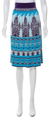 Tory Burch Silk Printed Skirt