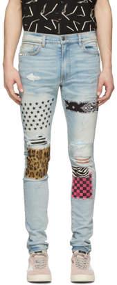 Amiri Blue Art Patch Jeans