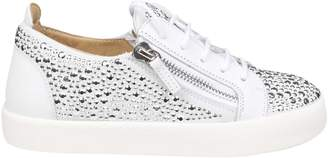 Giuseppe Zanotti May Sneakers In Suede Color White