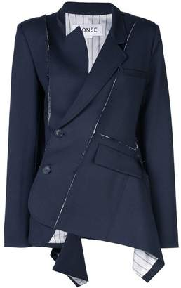 Monse deconstructed wrap-around blazer