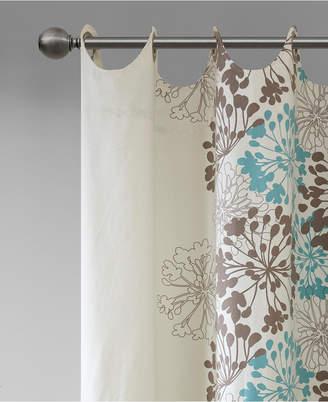 "Madison Park Anaya Cotton Floral 50"" x 84"" Grommet Window Panel"