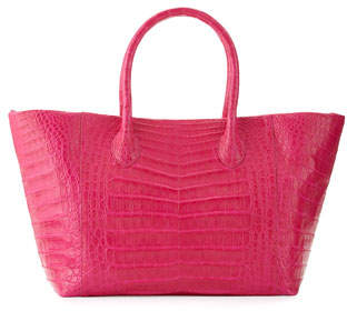 Nancy Gonzalez Crocodile Small Convertible Tote Bag, Pink Matte