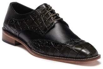 Stacy Adams Tomaselli Croc Embossed Leather Wingtop Oxford