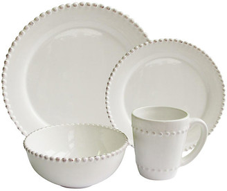 One Kings Lane 16-Pc Bianca Bead Dinnerware Set