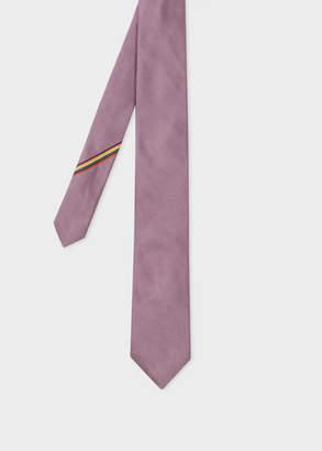 Paul Smith Men's Violet Narrow Silk Tie With 'Artist Stripe' Detail