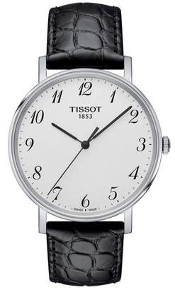 Tissot Everytime Leather Strap Watch, 38mm