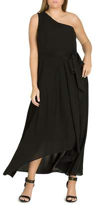City Chic Plus One Love One-Shoulder Maxi Dress