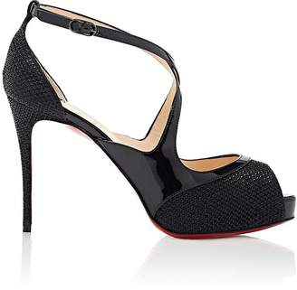 Christian Louboutin Women's Mira Bella Mesh & Patent Leather Platform Sandals