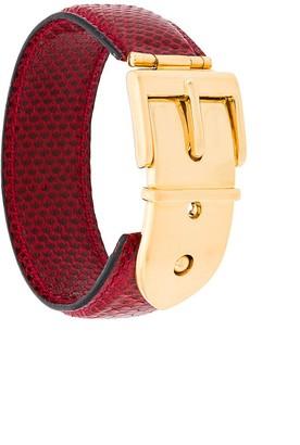 Gucci Pre-Owned 1990's buckle belt bracelet