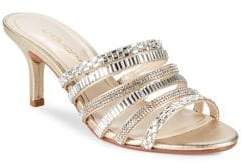 Caparros Norah Embellished Metallic Strappy Sandals