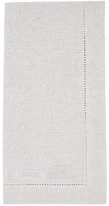 Deborah Rhodes Metallic Linen Napkin - Silver
