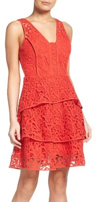 Women's Adelyn Rae Tiered Lace Dress $128 thestylecure.com