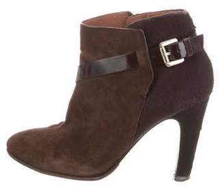 Sigerson Morrison Ponyhair-Paneled Ankle Boots