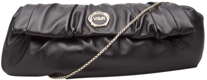 Viktor & Rolf Rouched nappa clutch