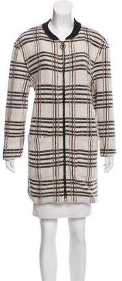 Sanctuary Plaid Knit Jacket