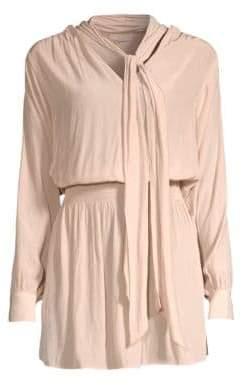 Ramy Brook Winslow Tie-Neck Dress