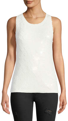 Romeo & Juliet Couture Sleeveless Sequined Tank Top