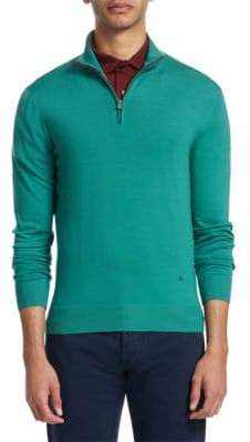 Isaia Half-Zip Wool Sweater