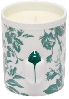 Gucci Herbosum Ladybug Floral Print Porcelain Candle - Green White