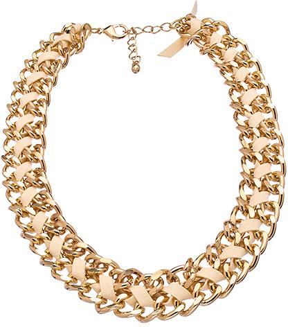 Blu Bijoux Ivory Faux Suede Chain Necklace