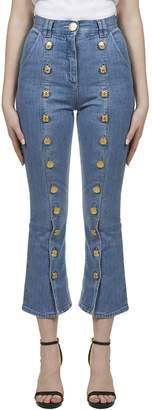 Balmain Button Embellished Jeans