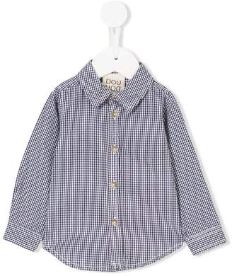 Douuod Kids fitted check shirt