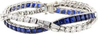 FRED LEIGHTON Diamond And Sapphire Wave Bracelet