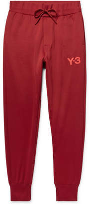 Y-3 Tapered Logo-Print Tech-Jersey Sweatpants