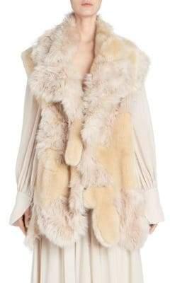 Stella McCartney Aurora Faux-Fur Vest