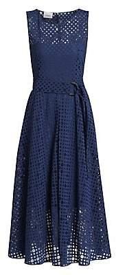 Akris Punto Women's Organza Belted Midi Dress