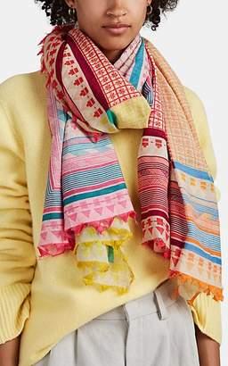 Faliero Sarti Women's Mastino Patchwork-Print Cotton-Silk Scarf