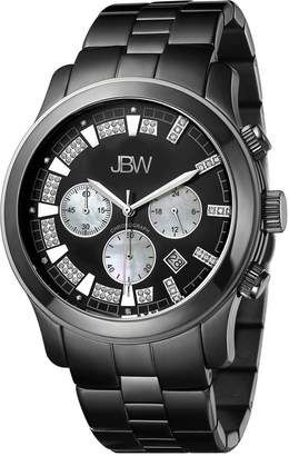 JBW Men's JB-6218-H Delano Black Ion Chronograph Diamond Watch