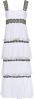 Carolina Herrera Tiered Mosaic Dress