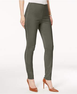 INC International Concepts I.n.c. Studded Pull-On Skinny Pants