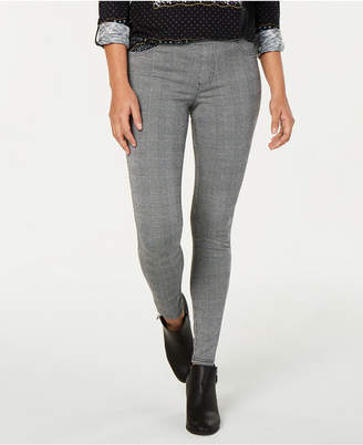 Style&Co. Style & Co Plaid Pull-On Skinny Pants