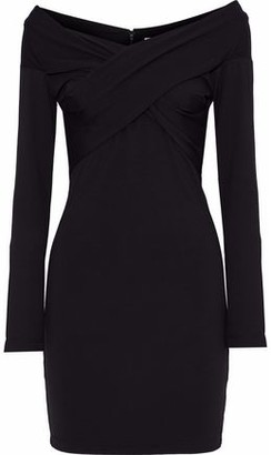 Alexander Wang Off-The-Shoulder Stretch-Jersey Mini Dress