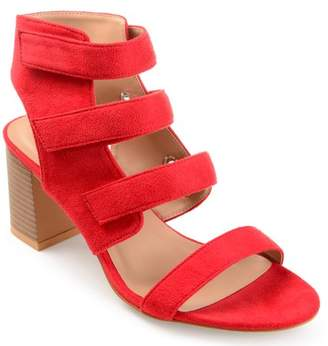Co Brinley Women's Caged Faux Suede Cut-out Heel Strappy Sandals