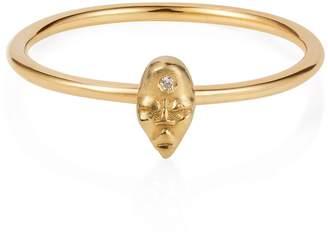 Lee Renee Tiny Voodoo Erzulie Ring Diamond & Gold vermeil