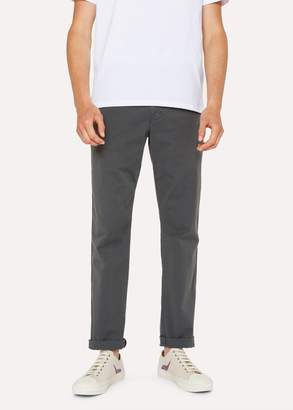 Paul Smith Men's Tapered-Fit Slate Grey Stretch Pima-Cotton Chinos
